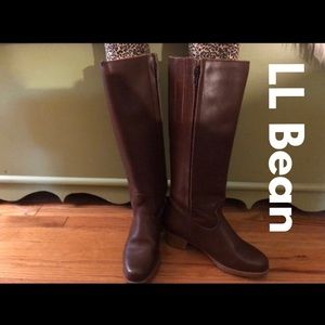 LL Bean Ladies Leather & Shearling Boots 7 - AS IS